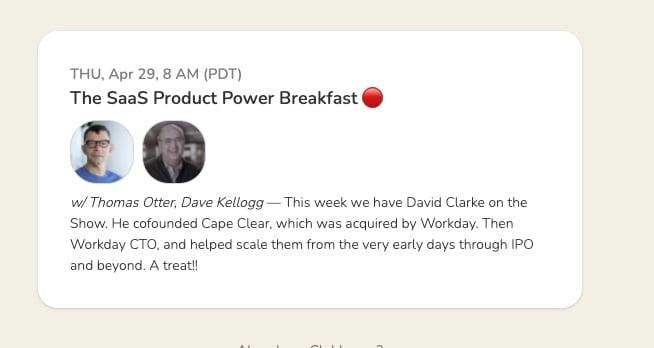 the saas product power breakfast