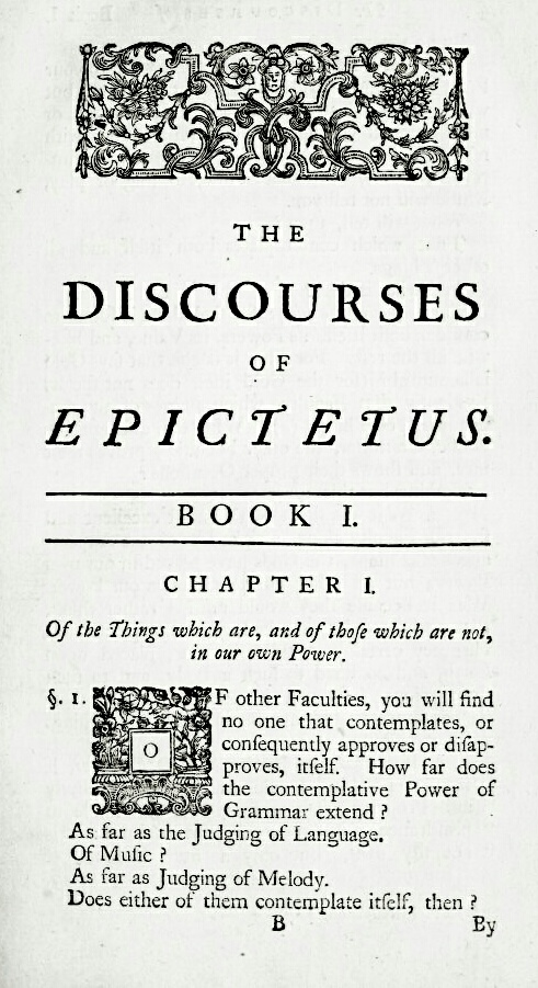 First page of Discourses by Epictetus
