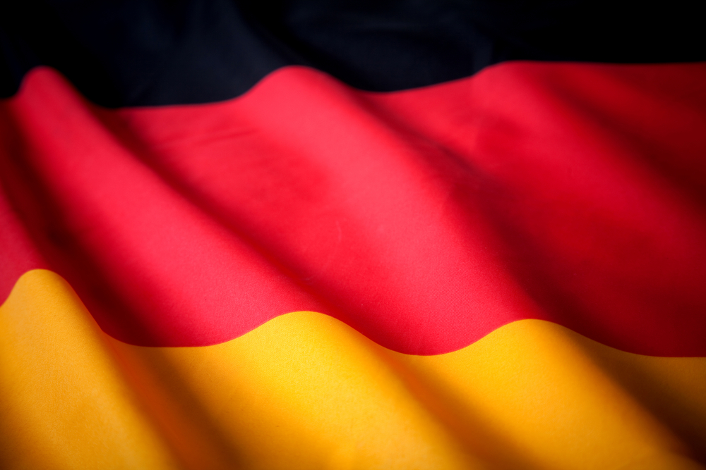 Picture of the German flag with wavy texture